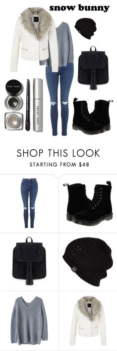 """Snow Bunny"" by angelamyalik ❤ liked on Polyvore featuring Dr. Martens, UGG Australia and Bobbi Brown Cosmetics"