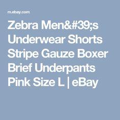b61a7c84ea Zebra Men s Underwear Shorts Stripe Gauze Boxer Brief Underpants Pink Size L