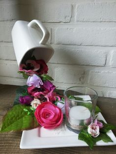 Like but would use more vintage cups and saucers with candle.