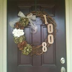 Address Wreath. Yep- I just made this!