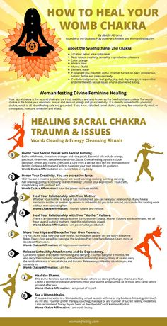 How to Heal Your Sacral Chakra Trauma: Divine Feminine Womb Chakra [Video] - - Your sacral chakra is the second chakra in the Hindi tradition, and also known as the Svadhishthana chakra. The womb chakra. Chakra Meditation, Sacral Chakra Healing, Meditation Music, Reiki Chakra, Kundalini Yoga, Chakra Mantra, Chakra System, Chakra Locations, Les Chakras
