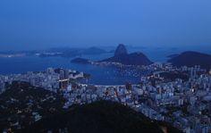 Vista da cidade do Rio, feita do Mirante Dona Marta  Ramakrishna Rezende de Assis/VC no G1