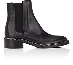 Barneys New York Chain-Embellished Leather Chelsea Boots  - Boots - 505329956