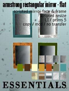 Armstrong Rectangular Mirror Flat Ad