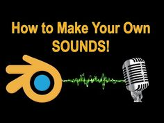 How to Make Your Own Sound Effects for Your Blender Animations Blender 3d, How To Use Blender, Sound Design, Game Design, 3d Design, Graphic Design, Animation Stop Motion, Animation Programs, Character Design Tutorial