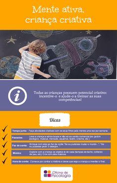 Estimular o potencial criativo do seu filho é bem mais fácil do que parece! Ora veja as nossas dicas.