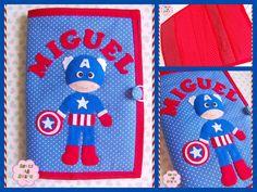 ☆Capa para Caderneta de Vacinas com Capitão América ☆  Medidas: 16 x 23 cm (Tamanho padrão da carteira de vacinação da Secretaria da Saúde)