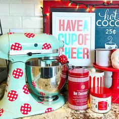 Dress your kitchen for the holidays with printable vinyl and Silhouette's print and cut feature.