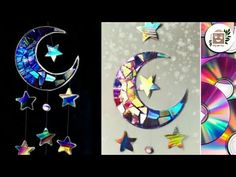 Crafts With Cds, Recycled Cd Crafts, Old Cd Crafts, Bible Crafts, Easy Crafts, Cd Mosaic, Mosaic Crafts, Moon Crafts, Cd Art