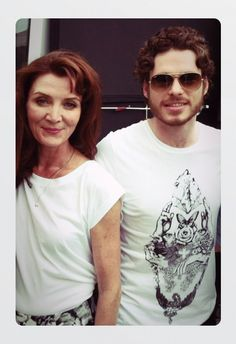 Michelle Fairley and Richard Madden