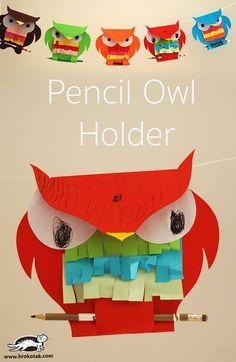 Pencil Owl Holder