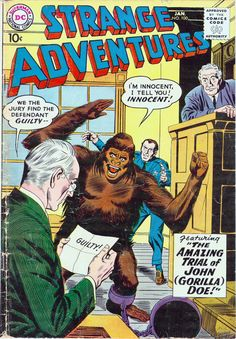 Strange Adventures #100, January 1959, cover by Gil Kane and Joe Giella