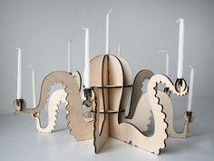 Menoctopus The octopus menorah/candle holder door undercurrentdesign