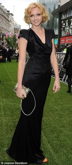 Lily Cole. Black Alexander McQueen dress. Snow White and the Huntsman premiere.