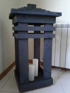 Candeeiro para velas ( paletes)