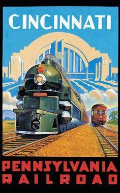 Union Terminal poster, Cincinnati.
