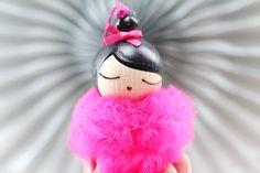 Danseuse+Pompon+Tulle+Rose+Fluo+:+LeS+PoiS+PlumeS,+la+boutique