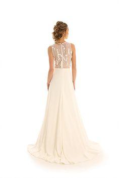 Crystal beaded wedding dress Joy Collection by Barbara Kavchok