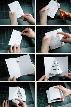 Pop Up Christmas Cards, Christmas Pops, Printable Christmas Cards, Pop Up Cards, Christmas Crafts For Kids, Xmas Cards, Diy Christmas Gifts, Simple Christmas, Christmas Decorations