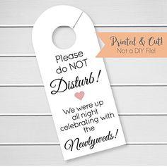 Free wedding door hanger printable. Make your own door hanger for ...