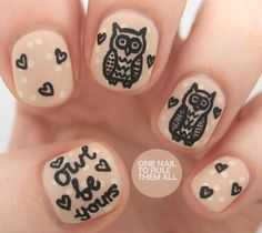 Nails.. i mostly like the fact that they have my favorite animal on them. :)