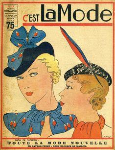 Wonderful hats both. #vintage #hats #fashion