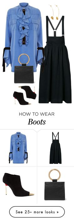 """Untitled #476"" by nc-young on Polyvore featuring Y's by Yohji Yamamoto, Philosophy di Lorenzo Serafini, Gianmarco Lorenzi, Edie Parker and Alighieri"