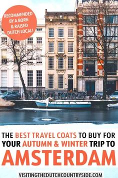 Searching for quality women's winter & fall coats to wear in Amsterdam, Holland & The Netherlands? Find the best stylish female winter & autumn coats here! Amsterdam Holland, Amsterdam Travel, Visit Amsterdam, European Destination, European Travel, Winter Coats Women, Winter Jackets, Fall Coats, Best Travel Jacket