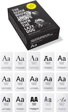 Typeface Memory Game / Core77 / 2010 Gift Guide