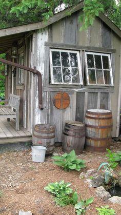 cabanon de jardin, cabane de jardin avec véranda