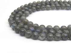 Labradorite Beads, AA Quality, 8mm Labradorite, 8mm Beads, Labradorite, Rare Gemstone, Rare Beads, 6mm Beads, Gray Moonstone, Natural Beads by GenuineBeadShop on Etsy https://www.etsy.com/listing/236649396/labradorite-beads-aa-quality-8mm