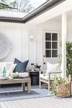 Last month, I was incredibly proud to share our home outdoor makeover collaboration with Pottery Barn, featured in the first issue of their new publication, The Collected Home. Outdoor Furniture Design, Deck Furniture, Furniture Ideas, Board And Batten Cladding, Outdoor Spaces, Outdoor Living, Outdoor Decor, Pottery Barn Outdoor, Modern Farmhouse Design