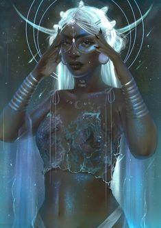Air Goddess, Black Goddess, Goddess Art, Moon Goddess, Luna Goddess, Arte Aries, Virgo Art, Zodiac Art, Libra