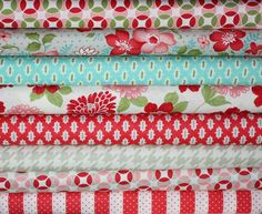 Vintage Modern by Bonnie and Camille quilt fabric for Moda- Fat Quarter Bundle-8 Total. $22.00, via Etsy.