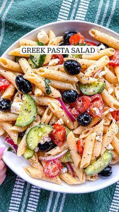 Healthy Salad Recipes, Healthy Snacks, Vegetarian Recipes, Cooking Recipes, Easy Healthy Meals, Veggie Pasta Recipes, Summer Pasta Recipes, Vegetarian Pasta Salad, Healthy Pasta Salad
