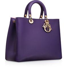 "DIORISSIMO Large Violet Leather ""Diorissimo"" https://www.facebook.com/WeLoveHandbags"
