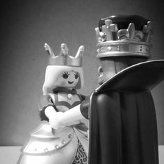 Son hermosos :D #love#playmobil#serie#7#photo#blanco#y#negro#rey#reyna