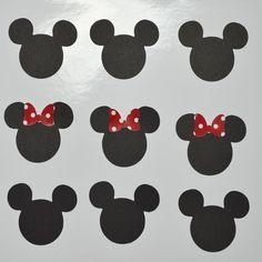 60 Recortes Mickey e Minnie Tubbetes teg