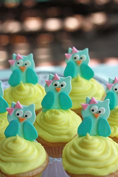 Cute Baby Owl Cupcakes