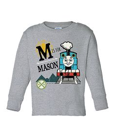 Gray Thomas & Friends Personalized Tee - Toddler & Kids