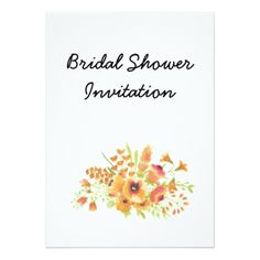 bridal wildflowers cheap inexpensive bridal shower party card