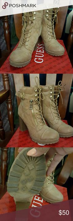 Guess Bieinda ankle boots Guess brand brown ankle boots (color is more tan than brown Guess Shoes Ankle Boots & Booties