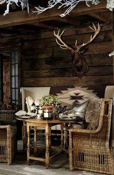 rustic balcony design outdoor rattan furniture