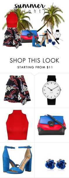"""""""Untitled #11"""" by vanessa-fashion123 on Polyvore featuring MSGM, Rosendahl, WearAll, Versace and Sam Edelman"""