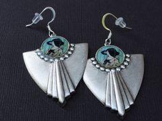 Mackintosh Art Deco Earrings by melaniemross on Etsy, $20.00