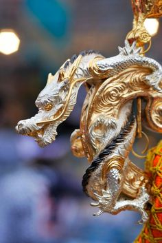 Japanese Golden Dragon on a Parade Float