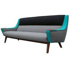 Avant Garde Tri Tone Colorblocked Scandinavian Sofa