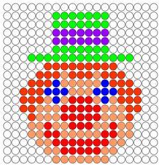 Clown hama perler beads pattern