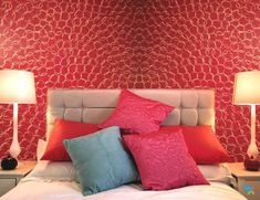Red Fizz – Royale Play – Interior Painting Asian Paints Wall Designs, Asian Paint Design, Paint Designs, Interior Wall Colors, Interior Walls, Interior Painting, Front Wall Design, Tv Wall Design, Green Dining Room