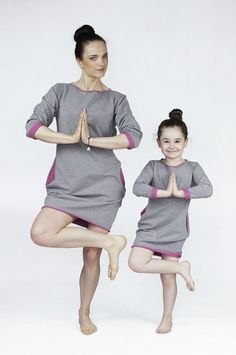 Matching mommy and me matchingoutfits :) The Same sweatshirt dress with pink mother daughter set www.thesame.eu